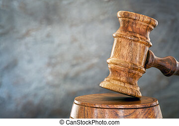 Gavel with Blurred Background