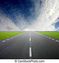 Road - Its a long sunny road