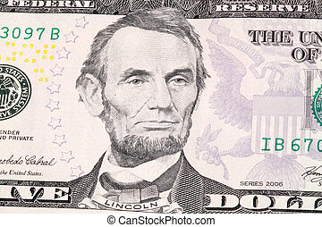 Abraham Lincoln - Portrait of Abraham Lincoln in front of...