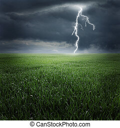 Tempestade, campo