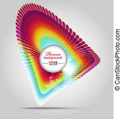 Abstract art frame background - Creative vector illustration...