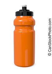 water bottle - one reusable water bottle on white 3d render...