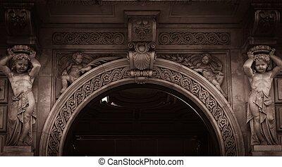 predios,  façade,  archway