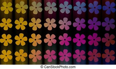 Abstract flowers in different colors