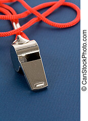 Whistle - a whistle with blue background