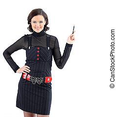 Beatiful business woman . Isolated - Beatiful business woman...