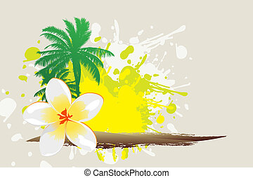 Tropical background - Tropical abstract background (palm,...