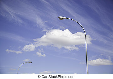 Lanterns in the Sky - Streetlights in the sky, detail of...