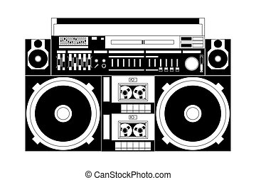 old school boombox - vector image of a classic boombox