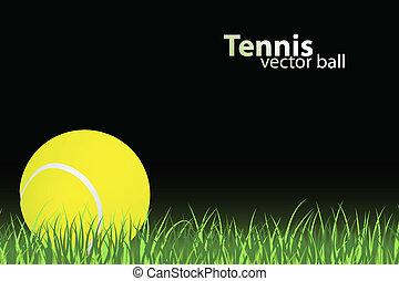 tennis illustration - tennis ball on grass (vector...