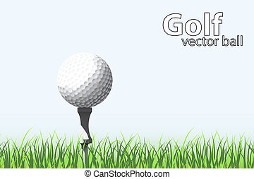 golf ball - illustration of a golf ball on grass