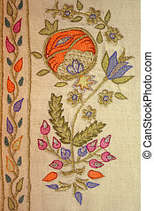 An example of turkish motif at needlework
