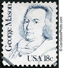 USA - 1981: shows portrait of George Mason 1725-1792 - USA -...