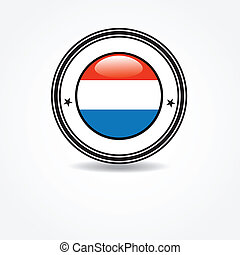 Netherlands flag in rubber stamp