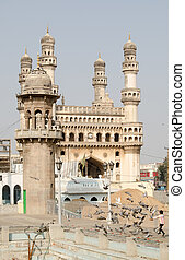 Charminar, Hyderabad from Mecca Mas - View from the Mecca...