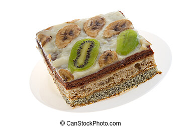 Pie with kiwi and banana - Cake with kiwi and banana...