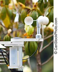 An Anemometer in nature at a Meteorological station