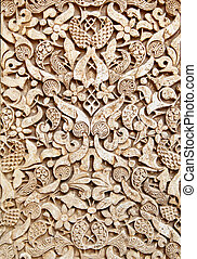 Old moorish stone carving, Granada (14th century)