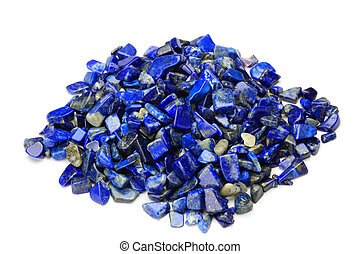 lapis lazuli - I took lapis lazuli in a white background