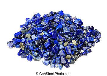 lapis lazuli - I took lapis lazuli in a white background.