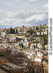 Granada, Spain. View from Alhambra palace