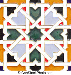 Andalusian ceramics - Typical andalusian ceramics with...