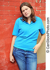Female tomboy - Female tomboy posing outside
