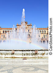Square of Spain - Fountain in Square of Spain with small...