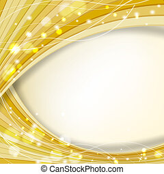 abstract golden background with sparkles