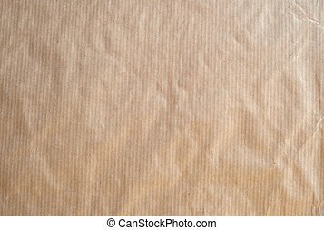 Striped brown paper - Frontal image of a brown striped...