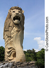 Merlion - Isle Sentosa, Singapore; photographed in october...