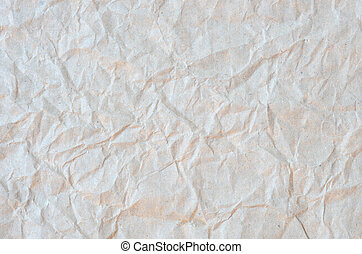 Light brown paper - Frontal image of a wrinkled recycled...