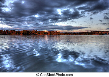 Lake Ginninderra at Sunset