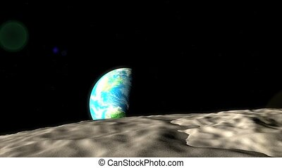 Earth moon distance - Concept animation, distance of earth...