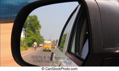 rearview mirror - driving in India
