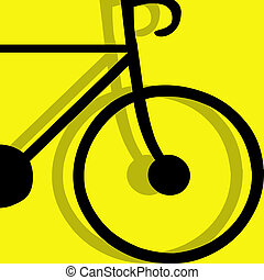 bicycling pictogram yellow