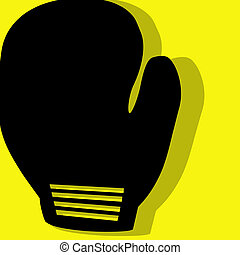 boxing pictogram yellow