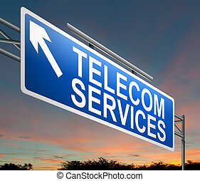 Telecoms service concept. - Illustration depicting a sign...