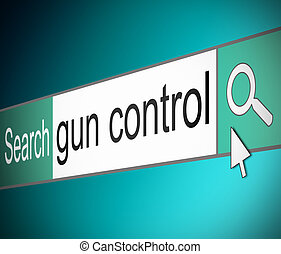 Gun control concept - Illustration depicting a screen shot...