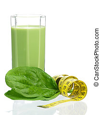 Spinach smoothie - Delicious spinach smoothie with tape...