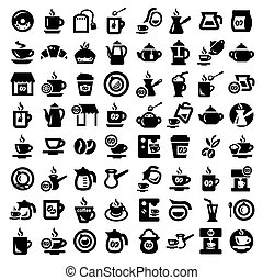big coffee and tea icons set - Big Coffee And Tea Icons Set...