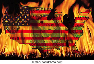United States - The flag of the United States of America...