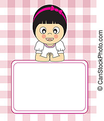 First Communion girl - First Communion Invitation Card Girl