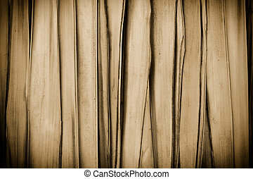Sephia background made of cane with vignette