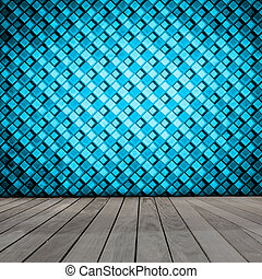 Room With Retro Color Wallpaper
