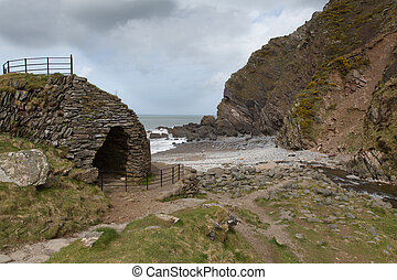 Heddon`s Mouth beach Devon - The beach at Heddons Mouth....