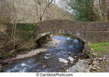 Heddon Valley Exmoor National Park Devon leading to beach at...