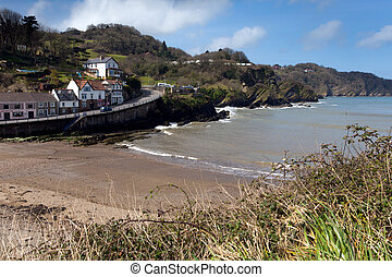 Combe Martin North Devon England near Ilfracombe on edge of...