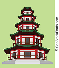 Chinese Pagoda - The Chinese pagoda is a traditional part of...