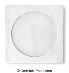 Paper case isolated on a white background